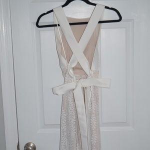 KEEPSAKE White Lace Dress, Backless with Bow
